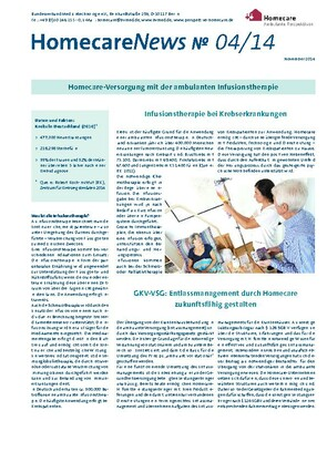 HomecareNews No. 04/14: Infusionstherapie